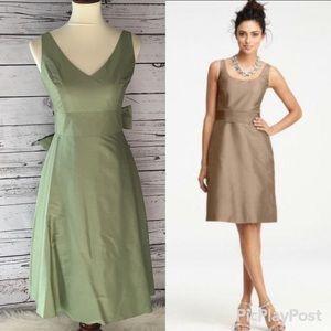Ann Taylor silk casual bridesmaid dress sz 0